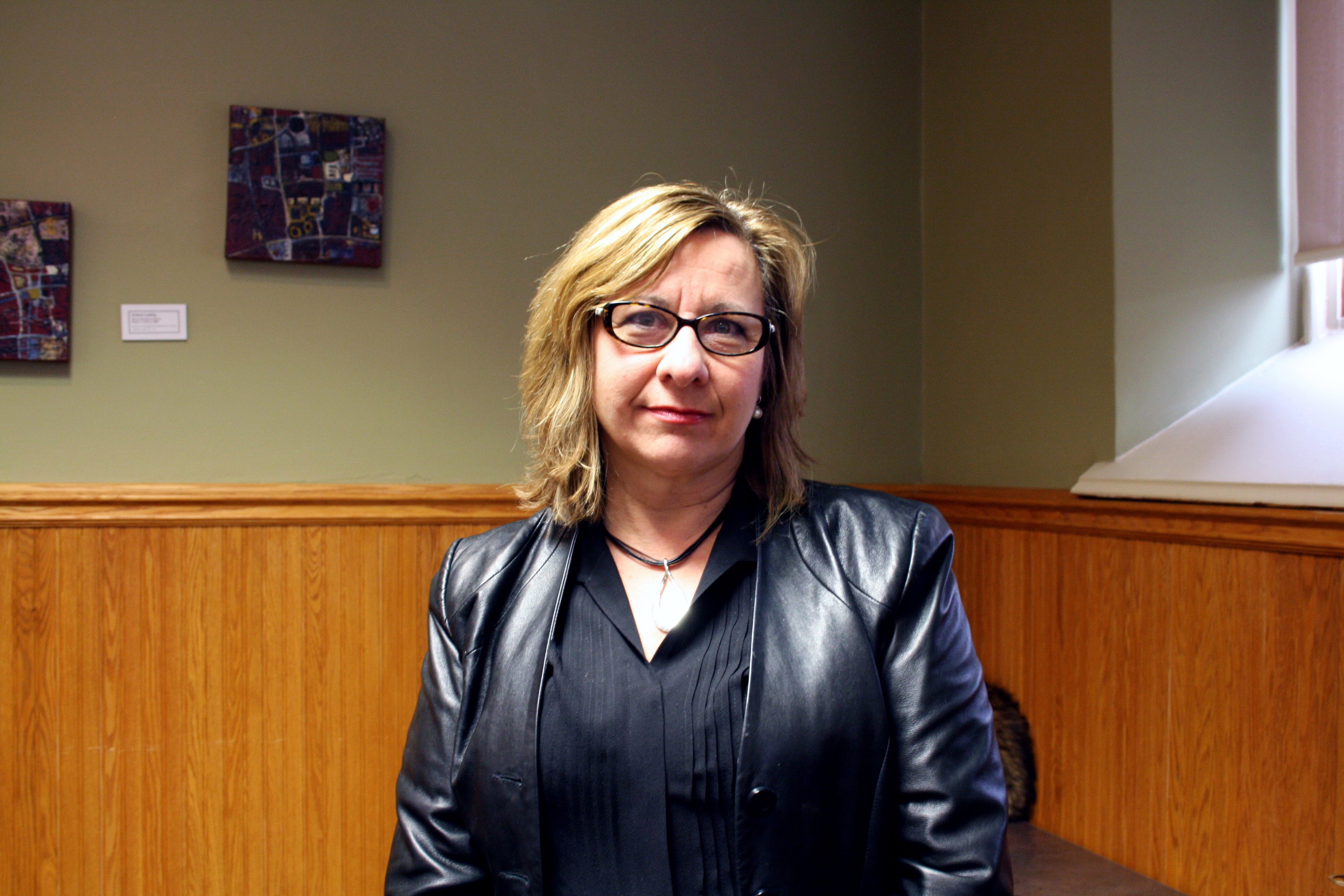 Kathy English visits Laurier Brantford. By Christina Manocchio.