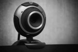 Webcams will be used by professors to monitor students during online examinations (Photo courtesy of Wikimedia Commons).