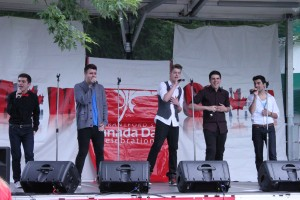 One More Direction performing on stage at Canada Day 2013 (photo by Nathanael Lewis).