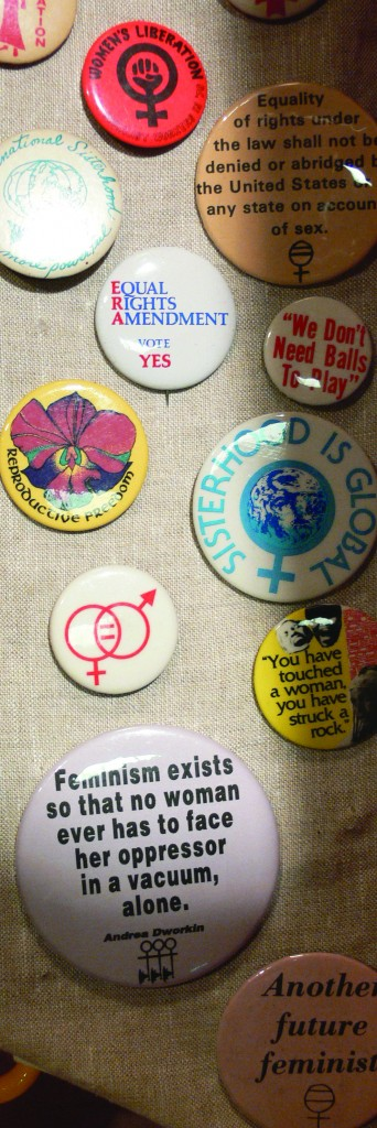 Feminist buttons at Women's Museum
