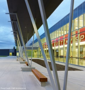 Front entrance of the Wayne Gretzky Sports Centre.