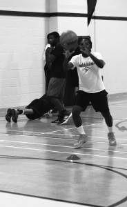 C.J. Williams practicing last year with the dodge ball team that looks to improve on there record from last year (Photo courtesy of Kim Jackson)
