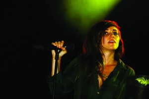 Lights performing for Laurier Brantford. Photo by Cody Hoffman.