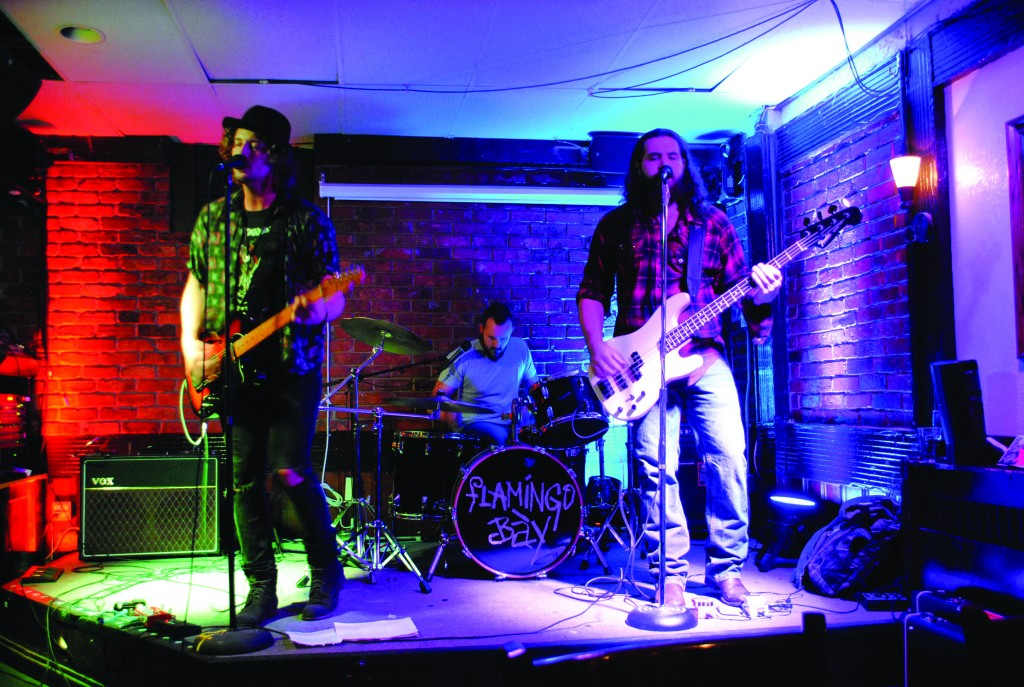 Flamingo Báy, from left to right: Dillon Henningson, Vince Rankin, and Kris Gies. Amber Richardson.