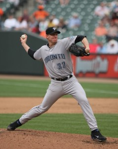 Roy Halladay signed a one day deal to retire as a Toronto Blue Jay, the team he spent 12 seasons with. Courtesy of Wikipedia.