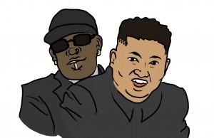 Rodman and Jong-un. (Art by Rebecca Duce)