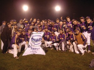 Thanks to some fantastic pitching, the Laurier men's baseball team came out of nowhere to win the 2013 OUA baseball title. Courtesy of OUA.