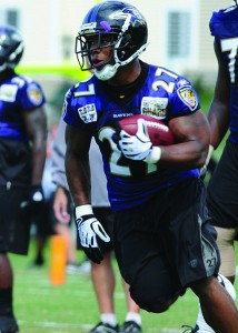 Baltimore Ravens running back Ray Rice was recently cut from the team and suspended. Photo courtesy of Staff Sgt. Benjamin Hughes/Wikimedia Commons