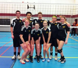 The co-ed extramural volleyball team opens their season on November 28 at Centennial College hoping to improve on last year's results and bring home a first place finish. Photo courtesy of Laurier Brantford Athletics & Recreation