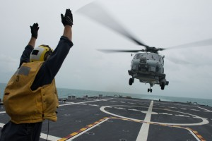 Fort Worth is currently on station conducting helicopter search and recovery operations as part of the Indonesian-led efforts to locate missing AirAsia Flight QZ8501. U.S. Navy photo by Mass Communication Specialist 2nd Class Antonio P. Turretto Ramos