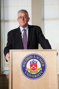 Dr. Max Blouw, the president and vice-chancellor of Laurier. Photo courtesy of Wilfrid Laurier University