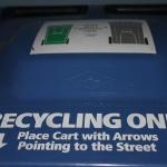Top of a recycling bin