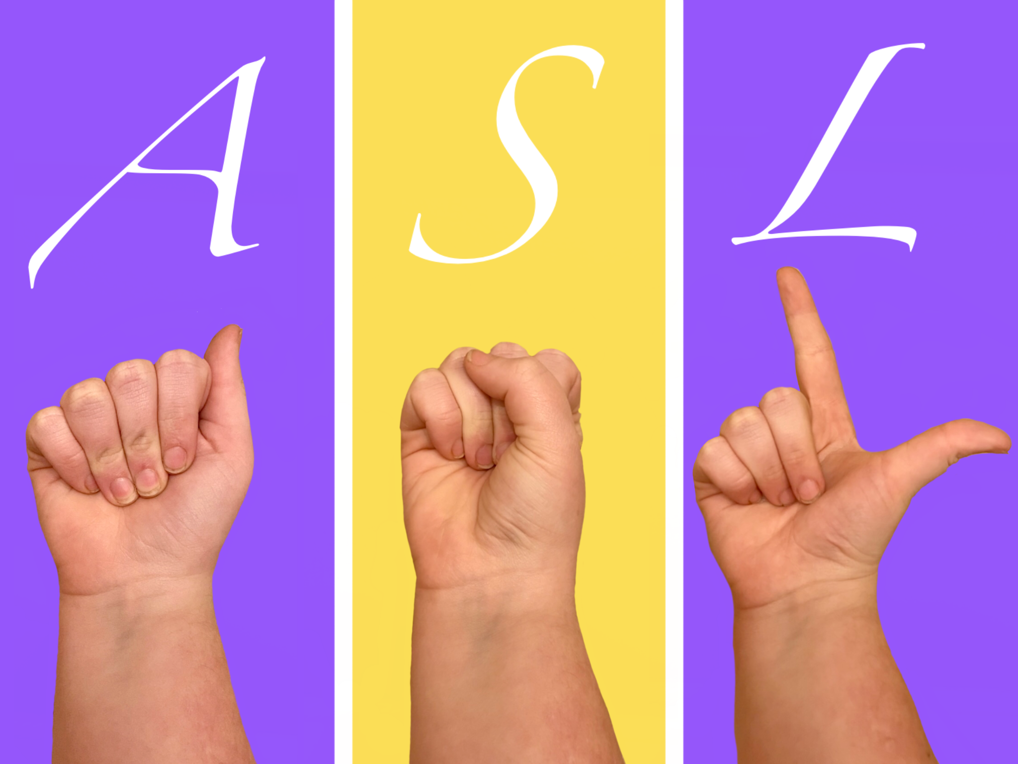 """Spelling out """"ASL"""" in American Sign Language"""