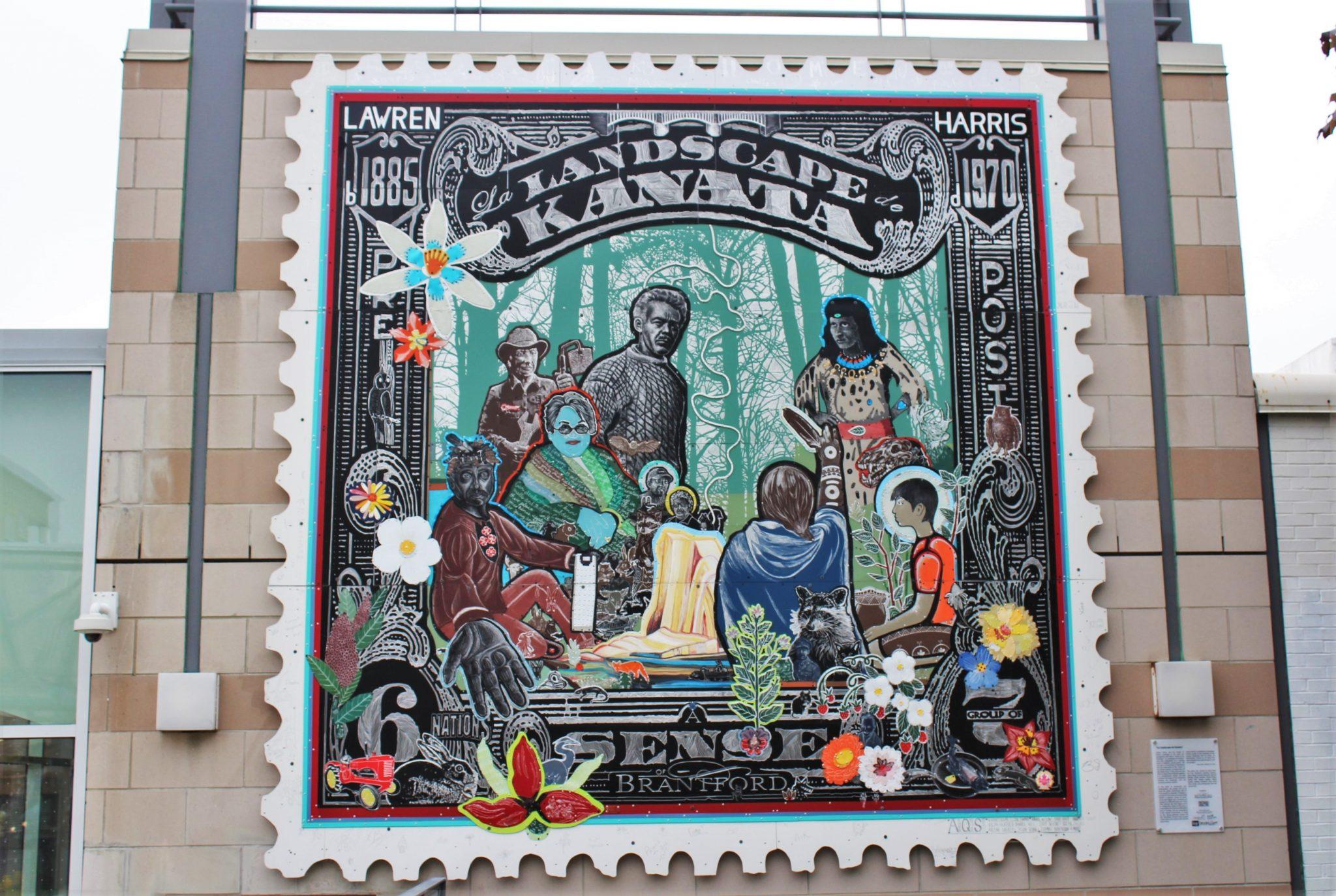 Landscape Kanata artwork in downtown Brantford